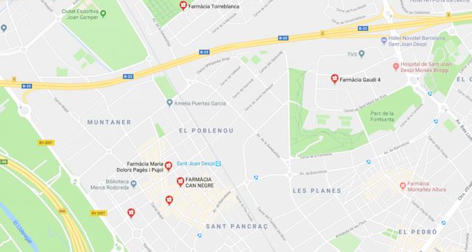 mapa farmàcies