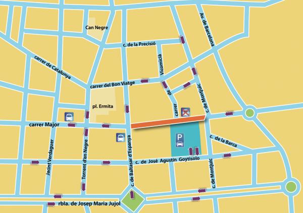 Segona fase de les obres del carrer Major (entre Baltasar d'Espanya i Montjuïc)