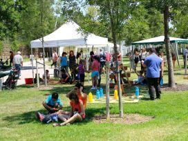 Jugatecambiental en el parque de la Fontsanta