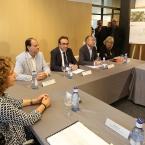 Imagen de la reunión que se ha celebrado esta mañana en el Centre Cultural Mercè Rodoreda
