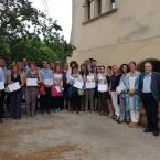 Represetantes de los nuevos Puntos de Información Turística del Baix Llobregat
