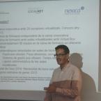 Xavier Valverde, en un moment de la presentació del projecte a Localret