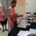 El co.legi electoral M.Martí i Pol, a primera hora