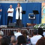 Gisela durant el pregó a la plaça del Mercat