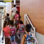 Aquest matí a l'escola Roser Capdevila