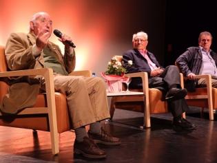 Josep M Jujol Jr, Pere Virgili i Luis Campo Vidal, a la presentació del documental