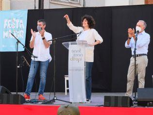 Elena Gadel, en un dels moments del pregó