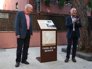 Poveda y Bonich, durante la inauguración de nuevo itinerario señalizado