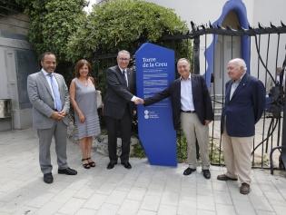 El rector de la UB, Dídac Ramírez, y el alcalde, Antoni Poveda, en el centro