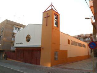 Exterior de la nova parròquia de la Mare de Déu del Carme