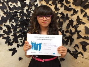 Inés, en el moment de rebre el premi al Centre de Cultura Contemporània de Barcelona