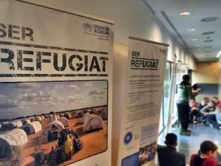 Una exposició ens apropa a la dura vida dels refugiats