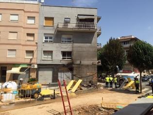 Imatge de l'habitatge afectat per l'incendi