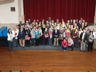 Representats de les entitats que han signat conveni amb l'alcalde, Antoni Poveda