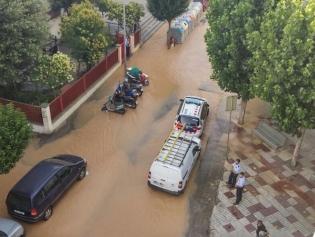 El carrer inundat, aquest matí