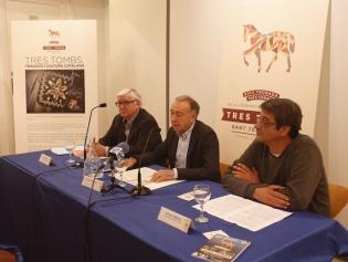 En la imagen, Sant Riba, Antoni Poveda y Víctor Ibáñez