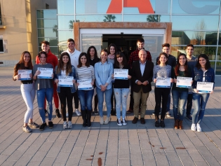 Premi de Treballs de Recerca amb l'alcalde de la ciutat, Antoni Poveda