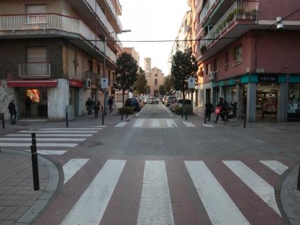 La primera fase de las obras, entre la calle Baltasar d'Espanya y Torrent d'en Negre