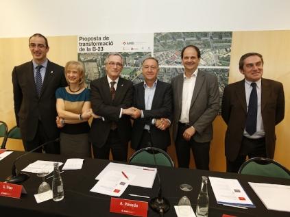 Els alcaldes i l'alcaldessa han mostrat la seva satisfacció per aquest pas per transformar la B23