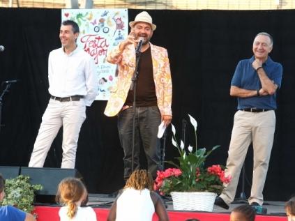 José Corbacho, el pregoner en plena actuació