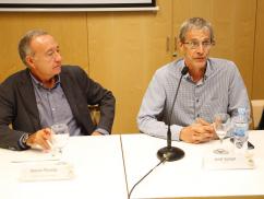 Jordi Sunyer durant la intervenció